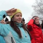 Русский флешмоб на Воробьевых горах